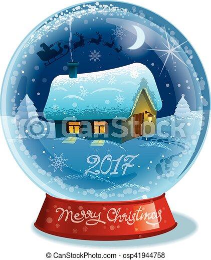 christmas crystal ball - csp41944758