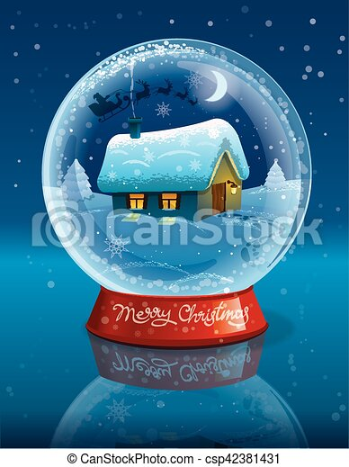 christmas crystal ball - csp42381431