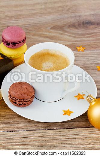 Coffee Christmas Morning.Christmas Cup Of Coffee