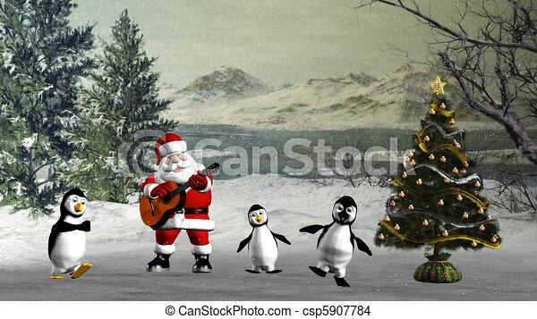 Christmas dance - csp5907784