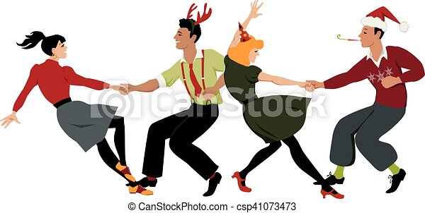 Christmas dance party - csp41073473