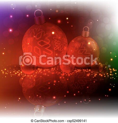 Christmas dark design with red balls - csp52499141