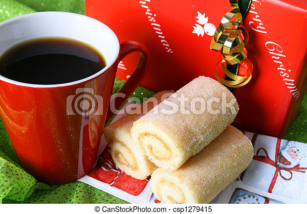 Coffee Christmas Morning.Christmas Day Coffee