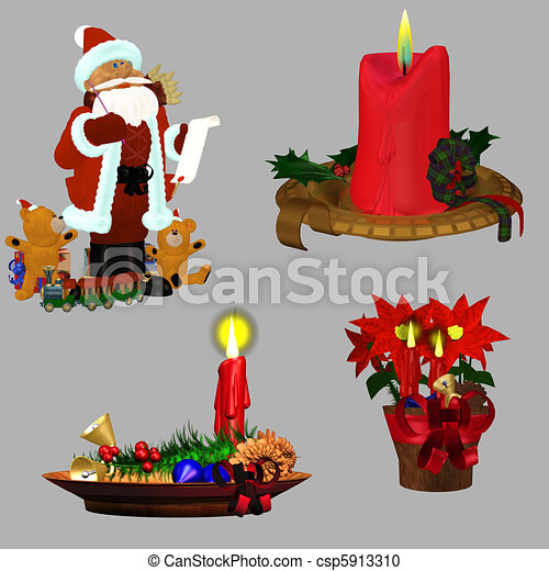 christmas deco - csp5913310