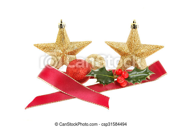 ded8901846e6 Christmas decoration baubles ribbon holly. Christmas decoration ...