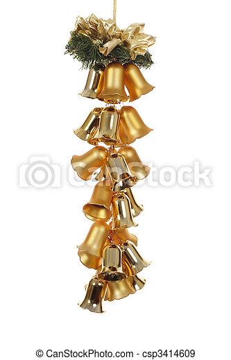 Christmas Decoration - bell - csp3414609