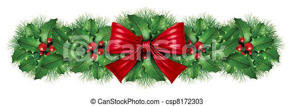 Christmas Decoration Border Csp8172303