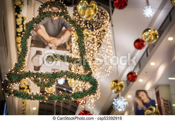 christmas decoration in a shopping mall csp53392916