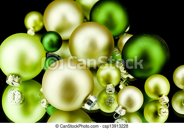 Wonderful Christmas Decoration In Gold Lime G   Csp13913228
