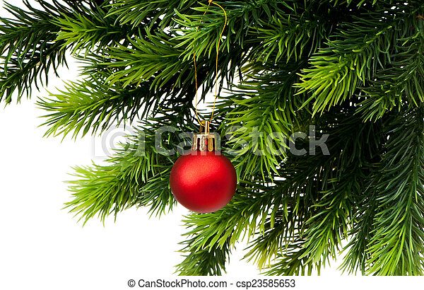 Christmas decoration isolated on the white - csp23585653