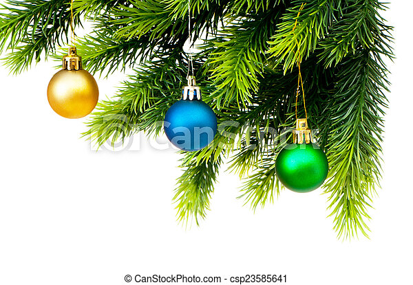 Christmas decoration isolated on the white - csp23585641