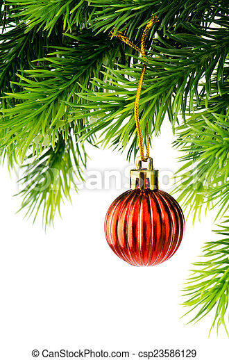 Christmas decoration isolated on the white - csp23586129