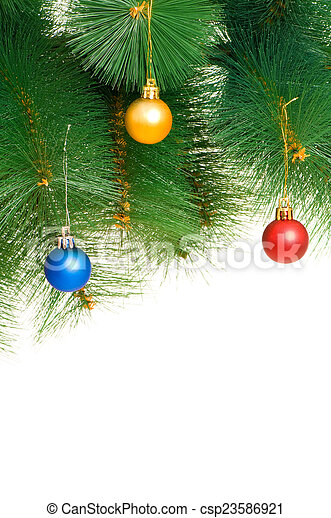 Christmas decoration isolated on the white - csp23586921