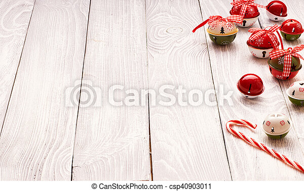 Christmas decoration on wooden background - csp40903011