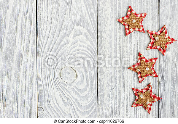 Christmas decoration on wooden background - csp41026766