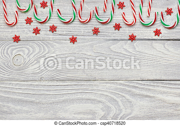 Christmas decoration on wooden background - csp40718520