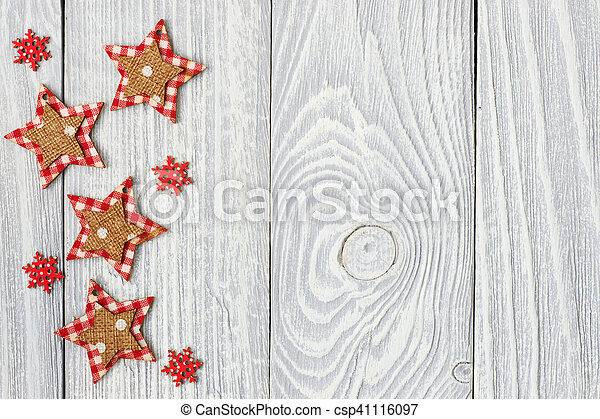 Christmas decoration on wooden background - csp41116097