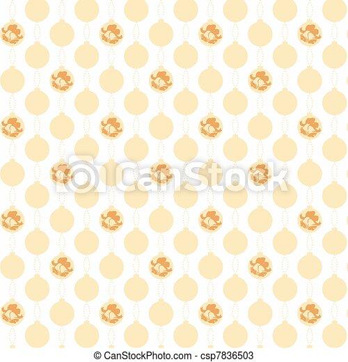 christmas decoration pattern - csp7836503