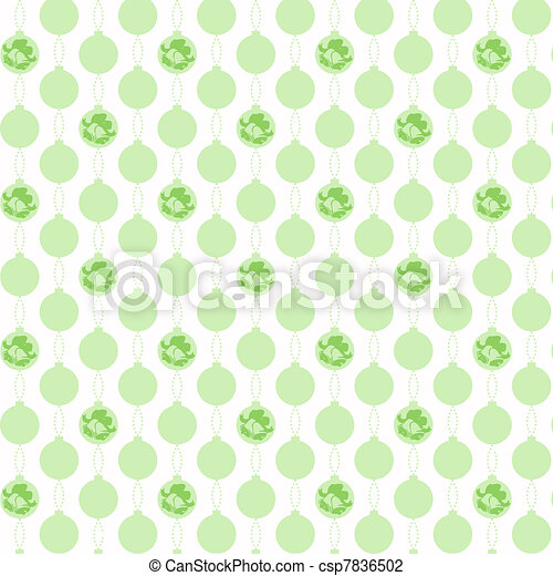 christmas decoration pattern - csp7836502