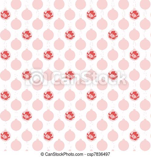 christmas decoration pattern - csp7836497