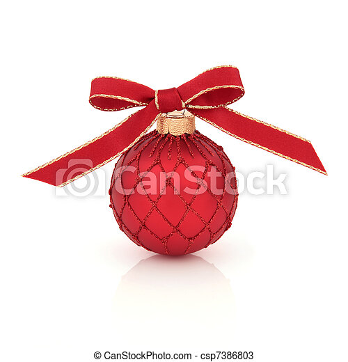 2be5de3a6c4c Christmas decoration. Christmas bauble decoration with red and gold ...