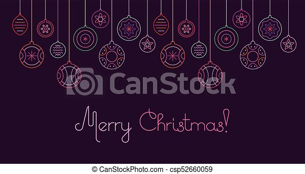 Christmas decoration vector illustration - csp52660059
