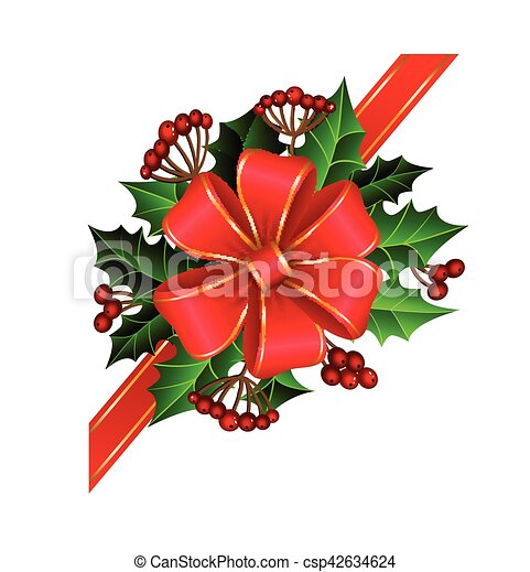 Christmas decoration with bow - csp42634624