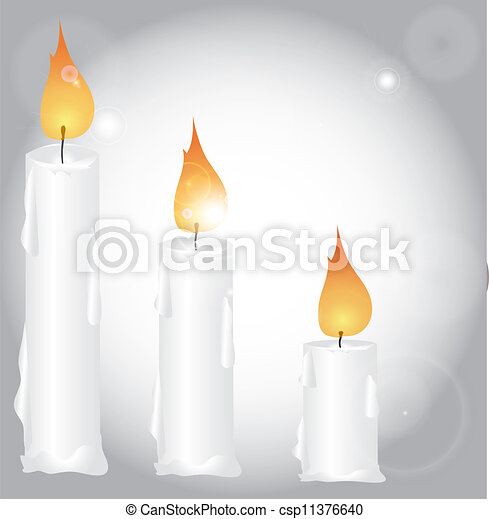 Christmas decoration with candles - csp11376640