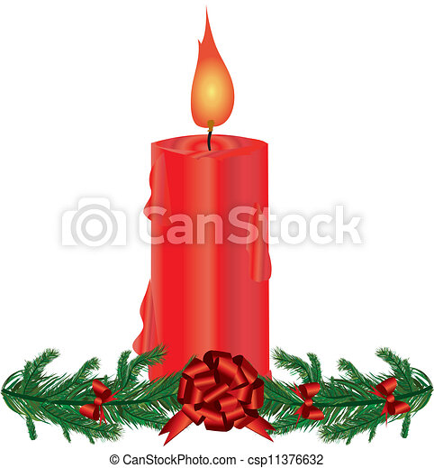 Christmas decoration with candles - csp11376632