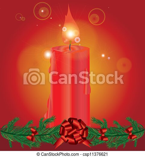Christmas decoration with candles - csp11376621