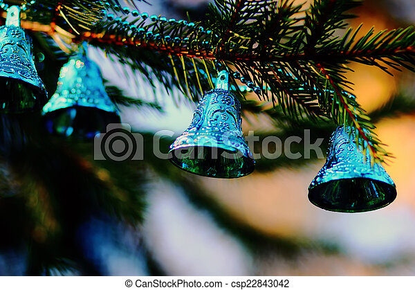 Christmas decorations  blue bells - csp22843042