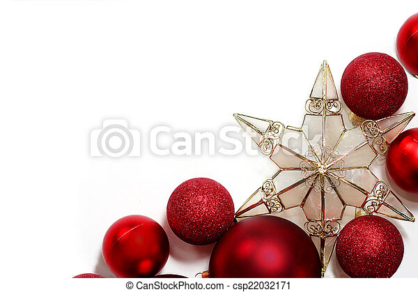 christmas decorations border csp22032171 - Christmas Bulb Decorations