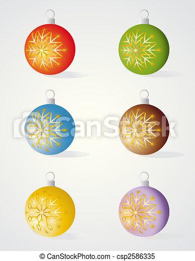 Christmas decorations - csp2586335