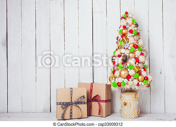Christmas decorations on the table - csp33009312