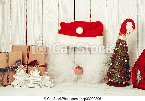Christmas decorations on the table - csp33009306