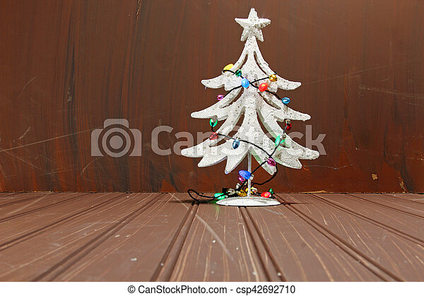 Christmas decorations on wood - csp42692710
