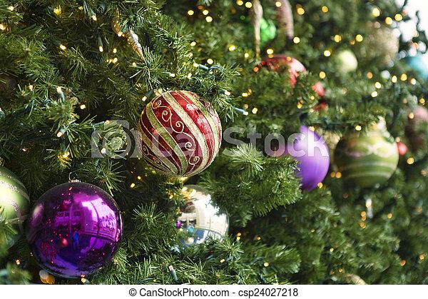 christmas decorations csp24027218