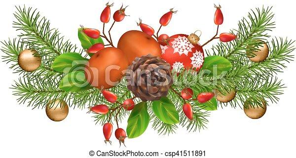 Christmas Decorations Vector - csp41511891