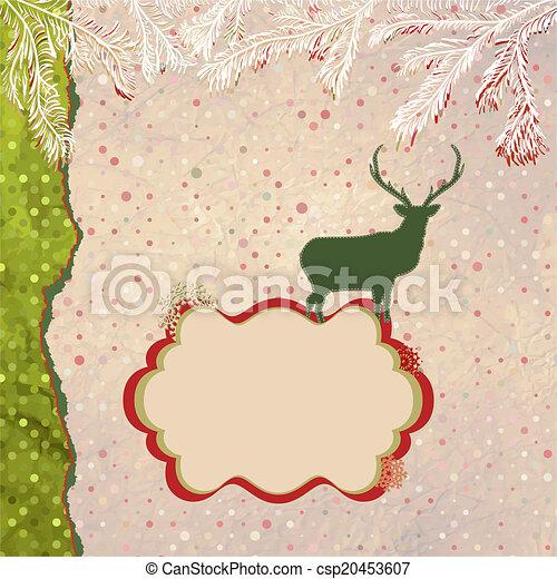 Christmas deer tempate card. EPS 8 - csp20453607