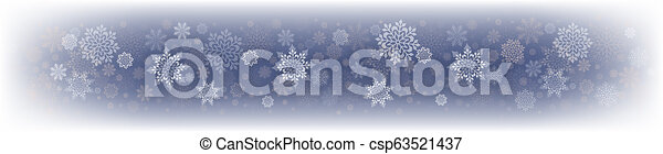 Christmas delicate blue design with a set of white snowflakes. - csp63521437
