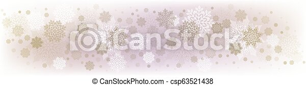 Christmas delicate design with many beautiful snowflakes. - csp63521438