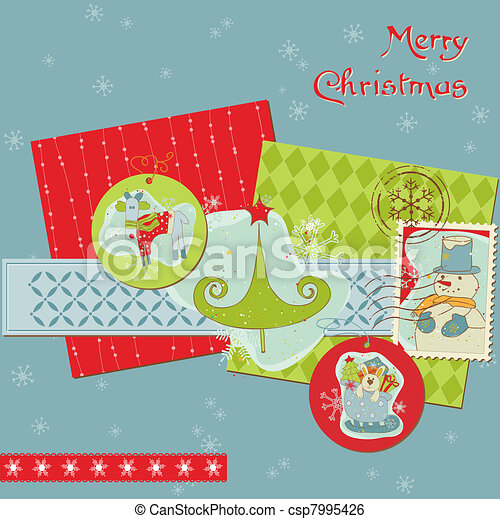 Christmas Design Elements For Scrapbook Design Invitation Greetings