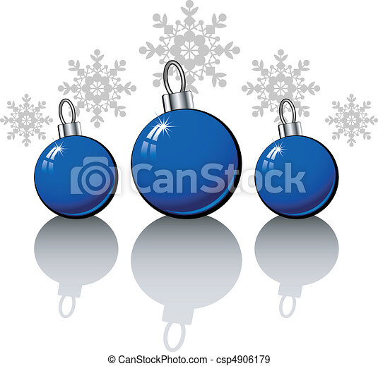 Christmas design elements with blue - csp4906179