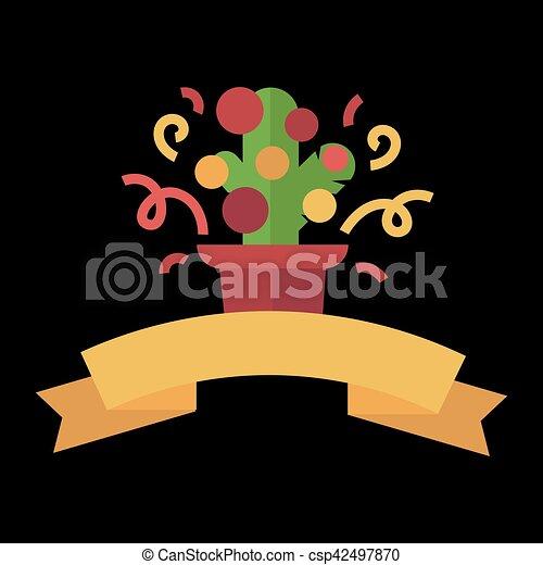 Christmas design template card. Vector background - csp42497870