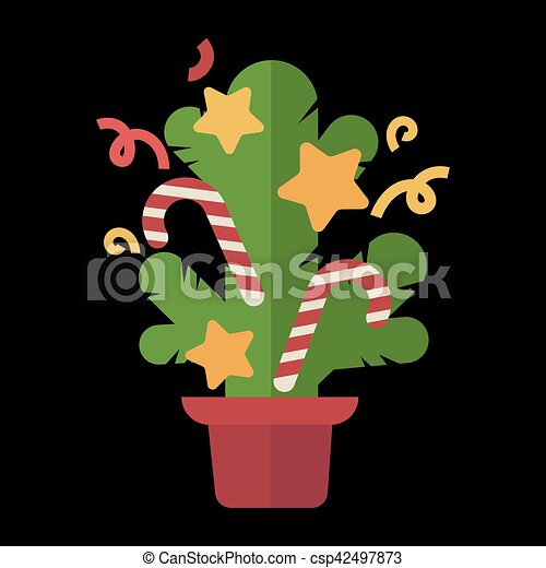 Christmas design template card. Vector background - csp42497873