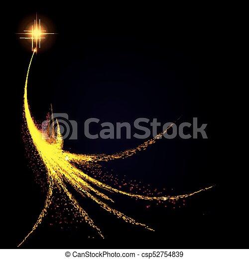 christmas design with abstract christmas tree - csp52754839