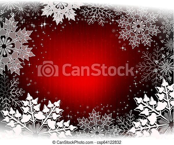 Christmas design with glitter and gorgeous white snowflakes. - csp64122832