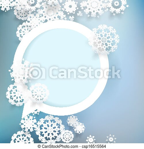 Christmas design with snowflakes. + EPS10 - csp16515564