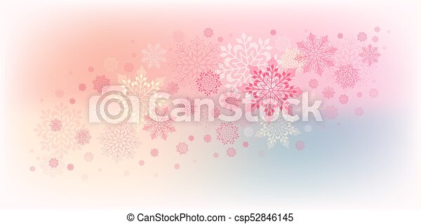 christmas design with snowflakes - csp52846145