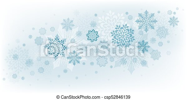 christmas design with snowflakes - csp52846139